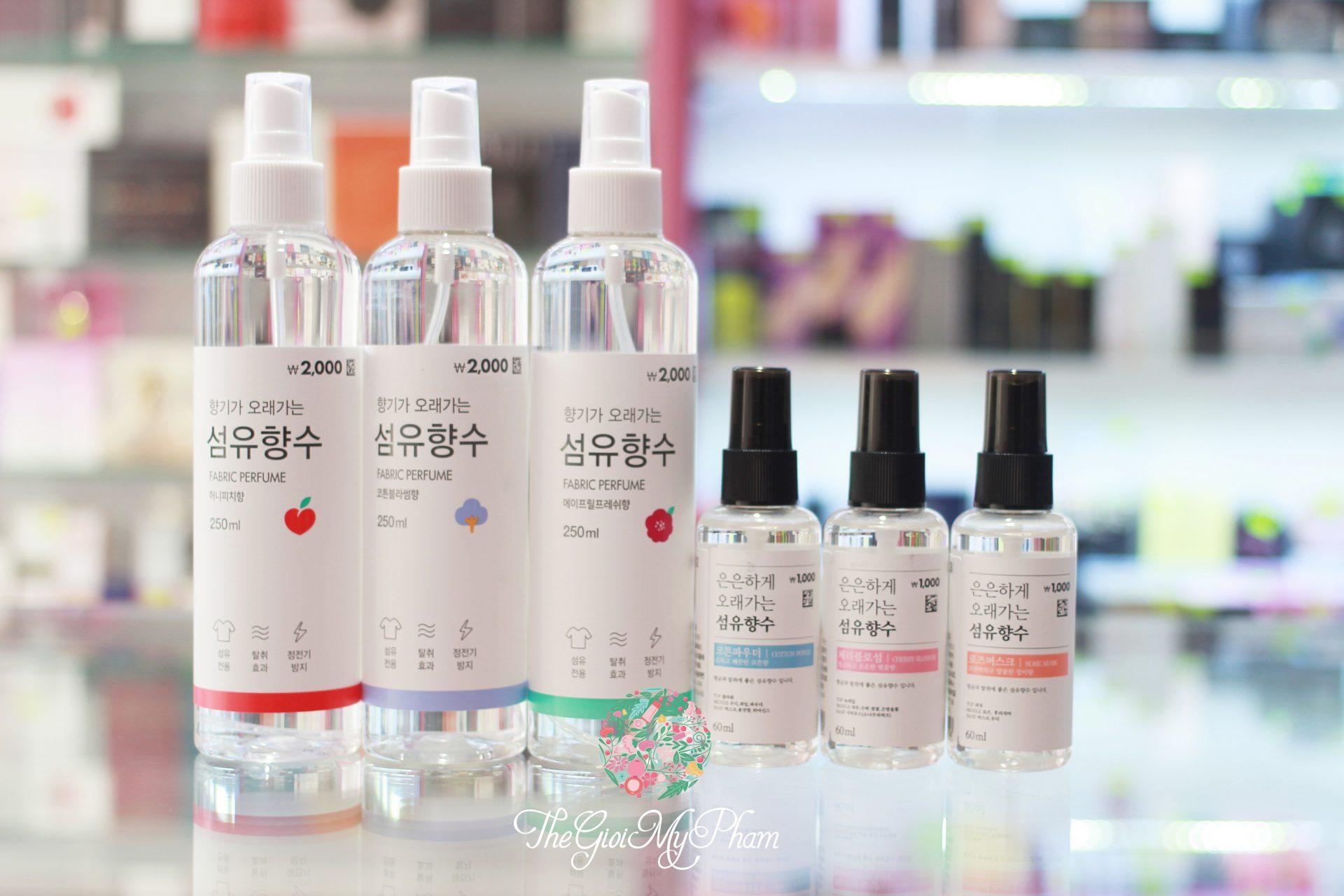 Xịt Thơm Quần Áo Fabric Perfume Hàn Quốc 60ml-250ml