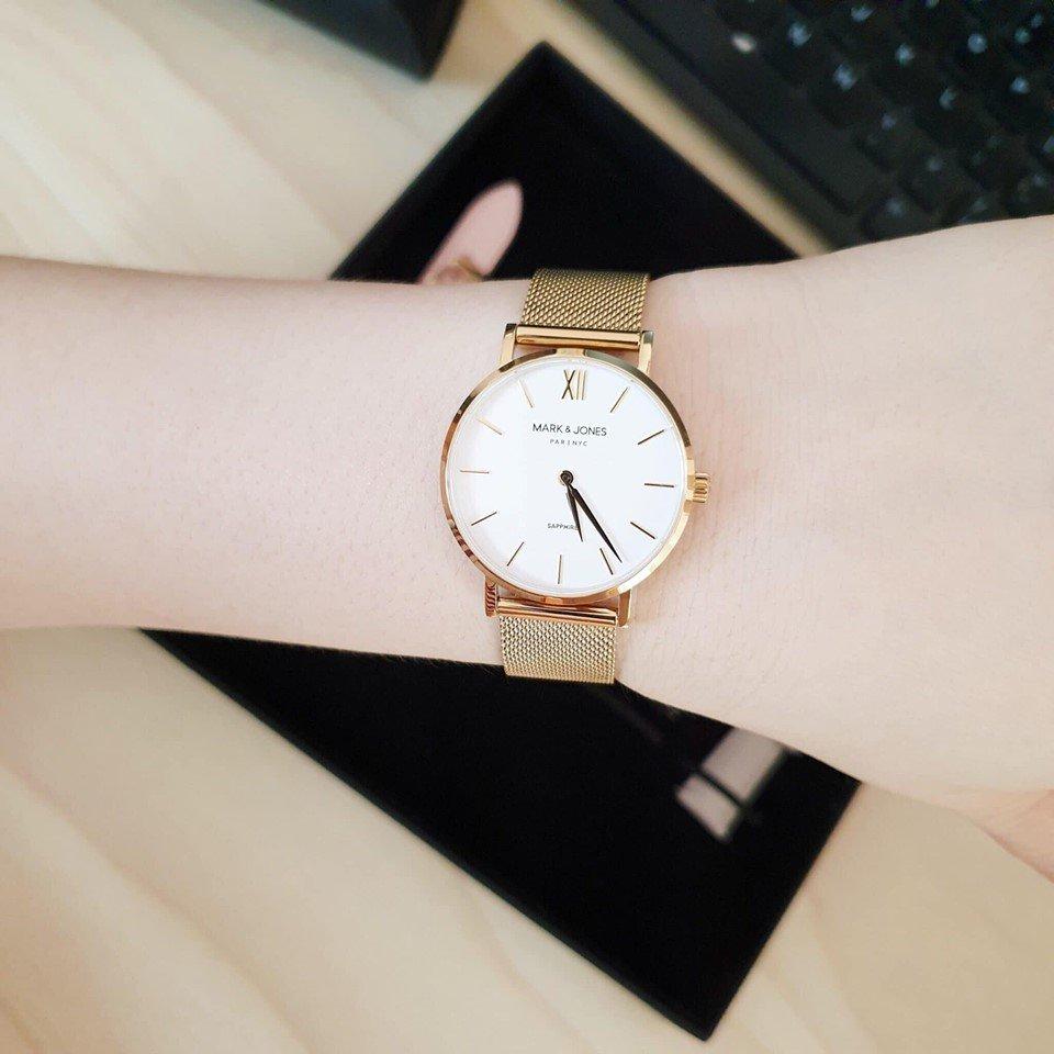 Đồng Hồ Mark & Jones Chính Hãng Nữ White Dial Ladies Watch